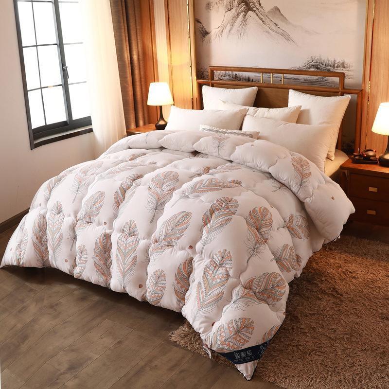 Winde Winter Trinke Bettdecke gewaschenen Baumwollpolyester Rosa Verdicken Decke für Herbst Home Textil Full King Doppelbett Bettdecken S