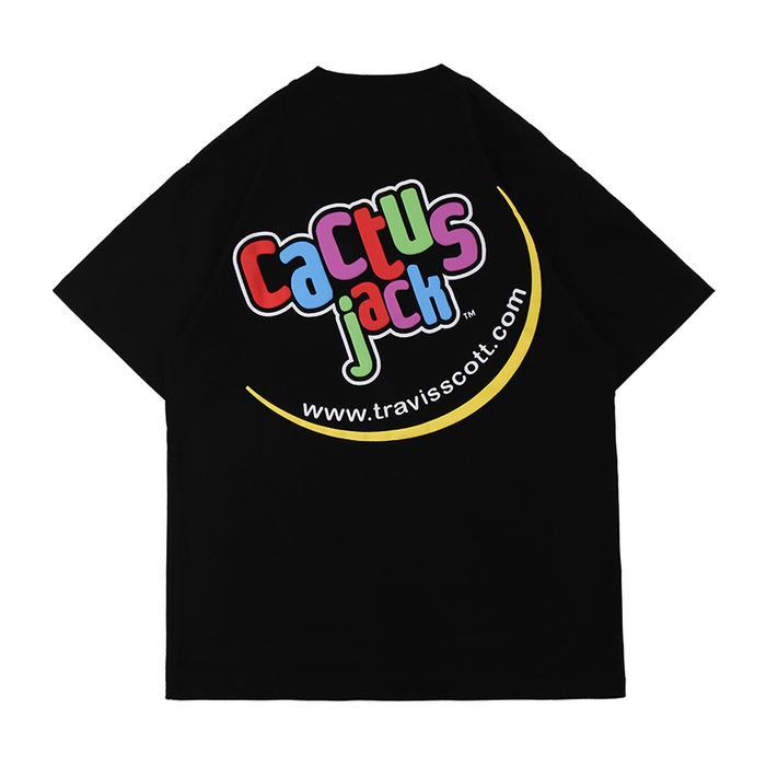 Men's Tshirts Catcus Jack Colorful Letter Print Cartoon Bear Cotton for Men and Women Harajuku Hip Hop Short Sleeve Oversize t Shirt