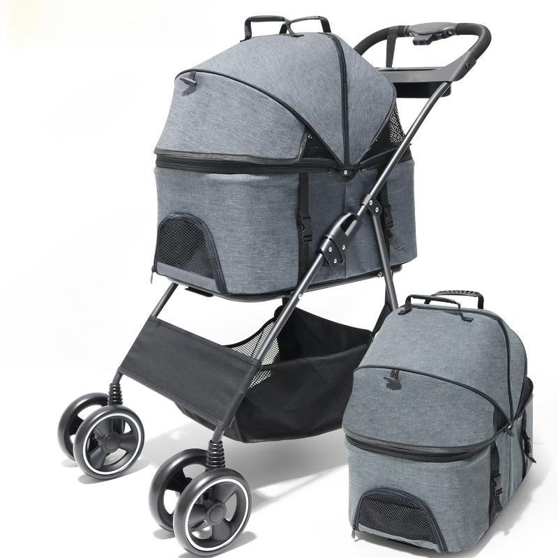 Hundeauto Sitzbezüge Haustier Katze Kinderwagen Tragetasche Falten Born Baby Pull Cart Allrad Transporter Reisen