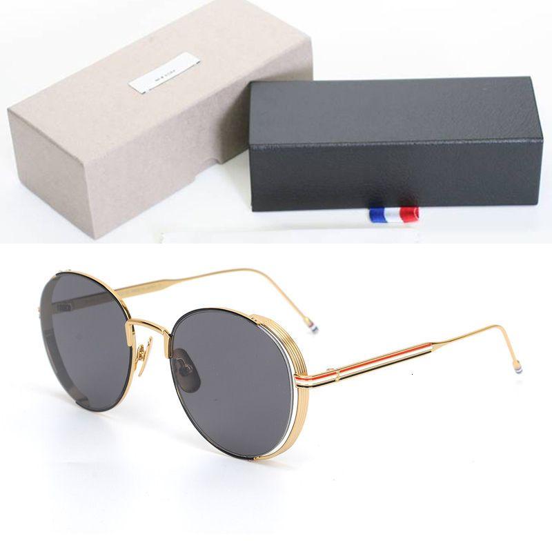 العلامة التجارية الكلاسيكية تصميم النظارات الشمسية الاستقطاب الرجال النساء خمر جولة دائرة نظارات الشمس 100٪ uv400 عدسات واقية السل