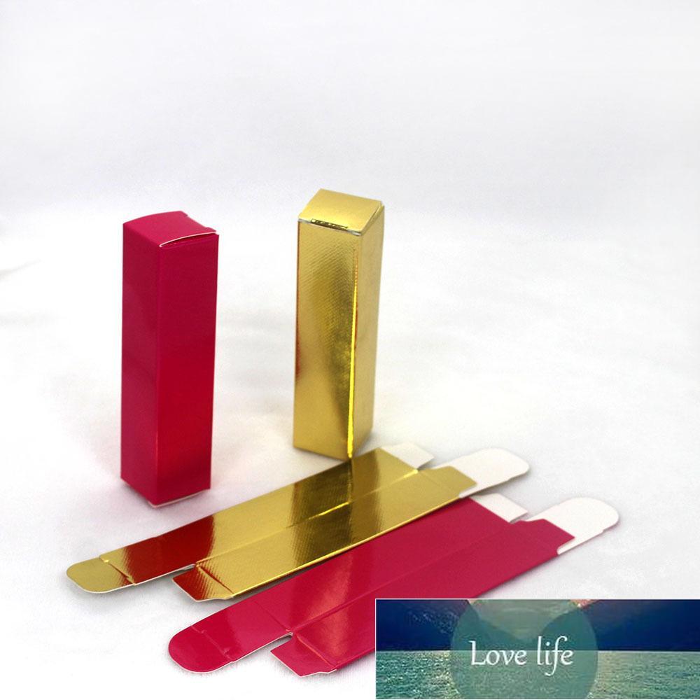 Taç Dudak Parlatıcısı Kağıt Kutuları 24 * 24 * 98mm, Boş Altın Ambalaj Kutusu Özelleştirilebilir Etiketler