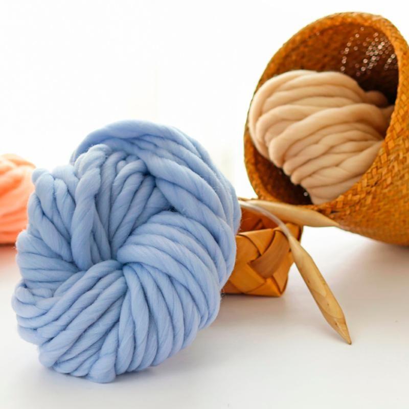 Super Bulky Arm Knitting Wool Roving Knitted Blanket Chunky Yarn Thick For Knitting/Crochet/Carpet/Hats#G