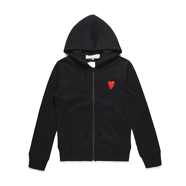 2021 클래식 붉은 심장 디자이너 캐주얼 후드 # C051-1 가을 겨울 스웨터 하라주쿠 패션 망 여성 CDG 의류
