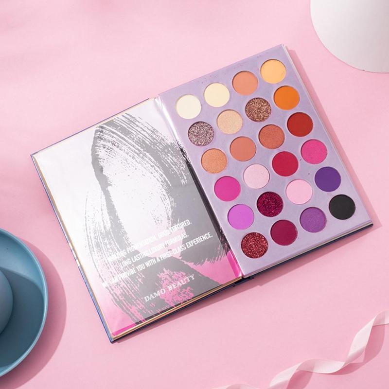 Tons de cor 72 livro colorido Sharp Syeshadow Palette Brilhante Olho Pigmento Sombra Glitter Matte Pallete A7Y5
