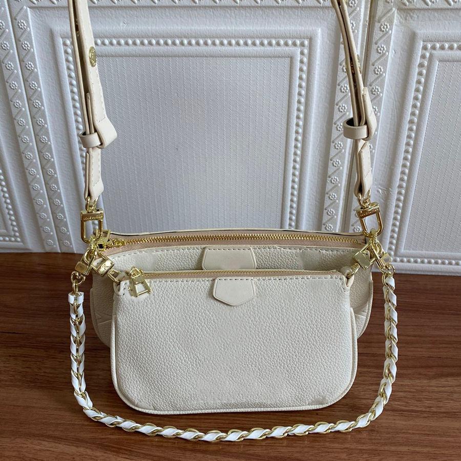 أزياء ماركة المفضلة متعددة pochette اكسسوارات حقائب الكتف حقيبة يد جلد طبيعي الطباعة زهرة حقيبة crossbody السيدات اثنين من قطعة بدلة محفظة