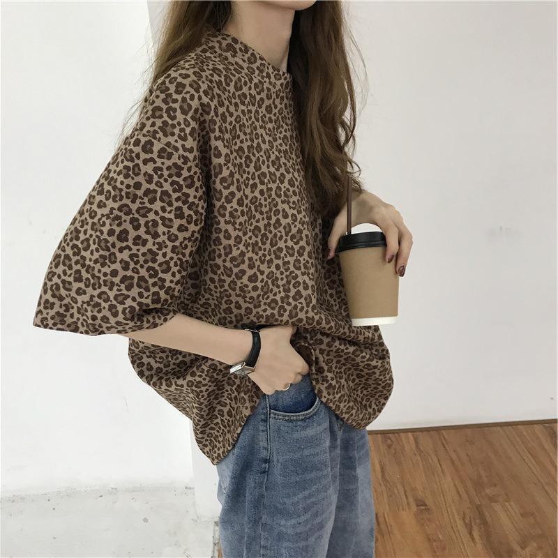 Women's T-Shirt 2021 Fashion Loose Style Comfortable Beautiful Leopard Pattern Women Tshirt Tee
