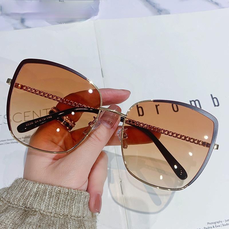 النظارات الشمسية خمر القط العين النساء المتضخم الرجعية النظارات السيدات الاستقطاب نظارات الشمس مصمم التدرج الملون