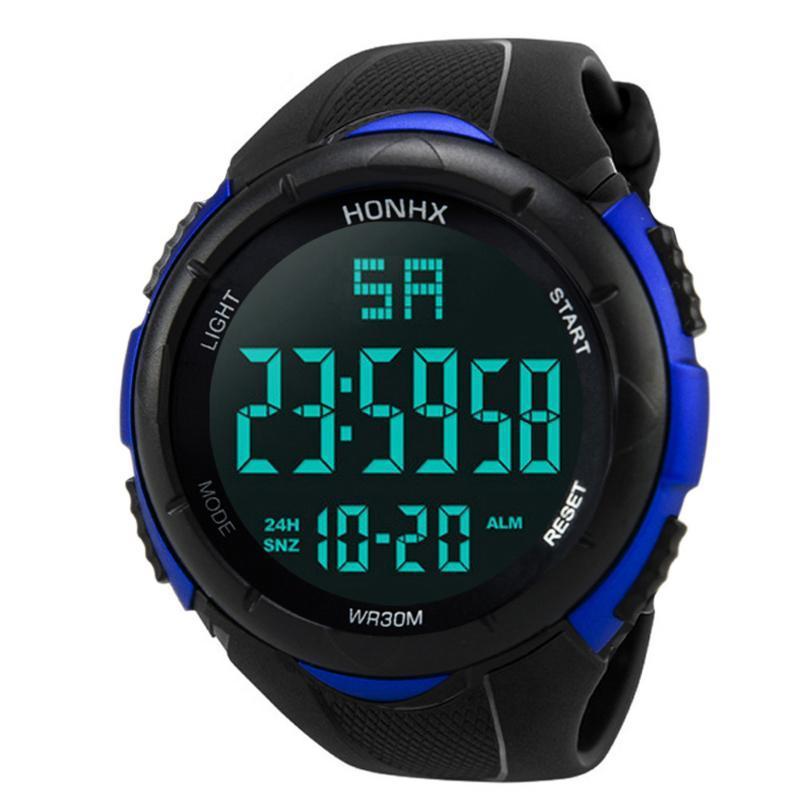 Hommes de luxe Sport militaire numérique analogique LED Montre-poignet imperméable Lumineux Hombbres reloj imperméables à bracelets F5 imperméables