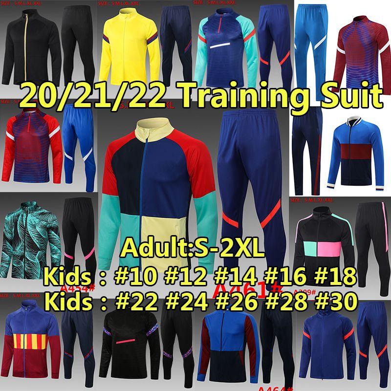 FC Barcelona Eşofman Kazak Seti Kış Ceket Futbol Forması 2020 2021 Messi Ansu Fati Erkekler Çocuk Kitleri Survetement Eşofman Eğitim Futbol Gömlek