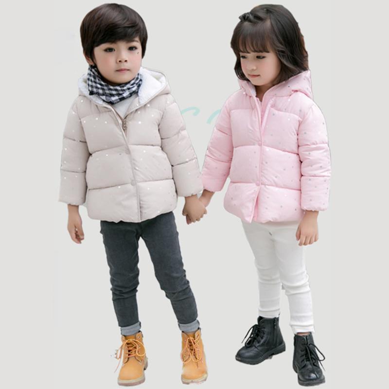 진짜 50 % 소녀 옷 코트 소년 만화 작은 별 인쇄 후드 면화 및 줄 지어 어린이 1-5 Y 품질 의류