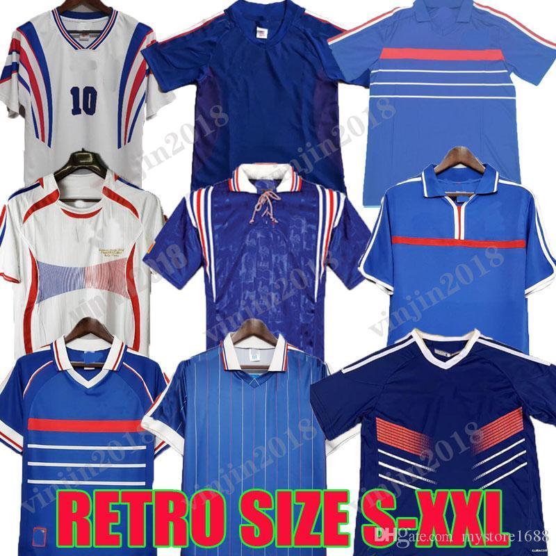 1998 2000 2000 2000 2004 Retro Zidane Henry Futebol Jerseys Vintage Futebol Clássico 1984 Camisa Trezeguet 1982 1996 2006 Copa do Mundo França Petit Pi