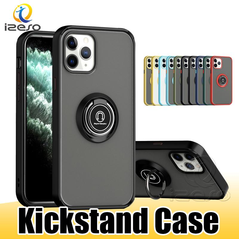 Hybrid Armor Phone Case Shockproof Kickstand Cases Cover for iPhone 13 Pro Max 12 11 XR XS 8 Plus Samsung S21 with Retail Package izeso