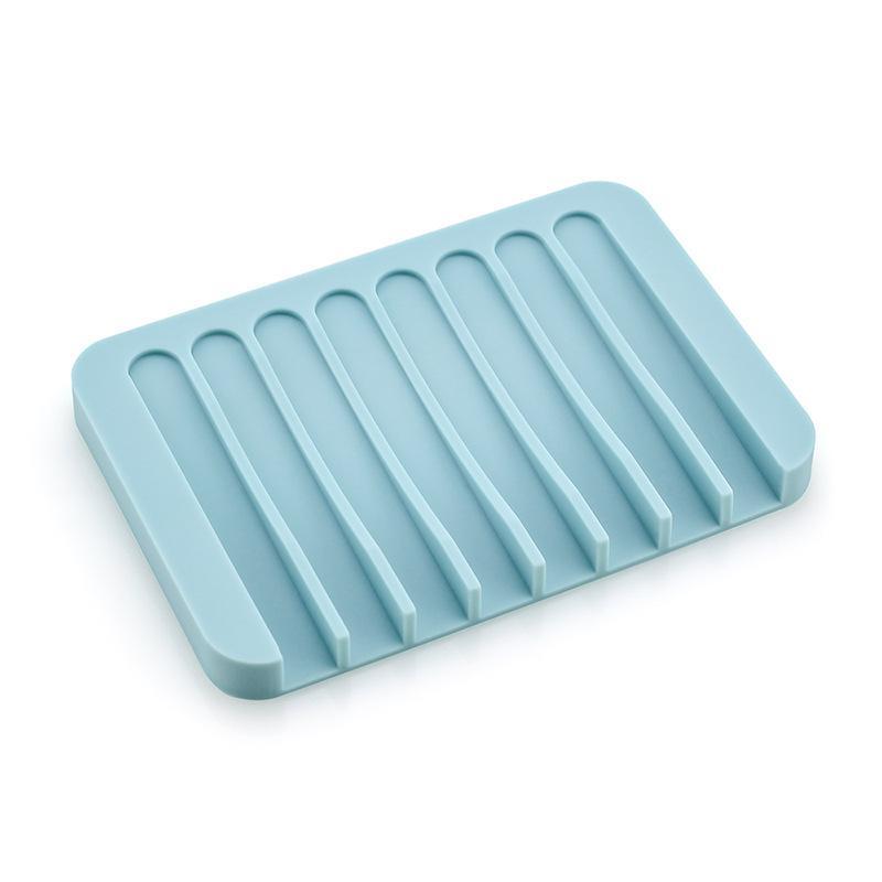 Творческий поднос сливной мыльный блюдо дома ванная комната кухня чистый цвет силиконовый держатель