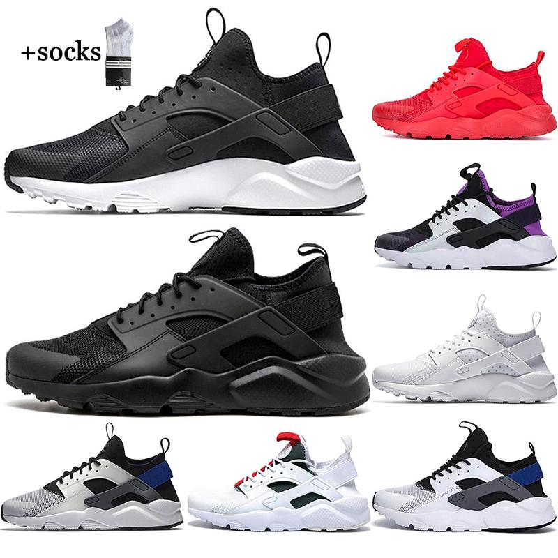 مع الجوارب الحرة 2021 الأبيض نقطة ايس huarache 4.0 الرابع الاحذية الثلاثي الأسود الرجال النساء huaraches الرياضة أحذية رياضية