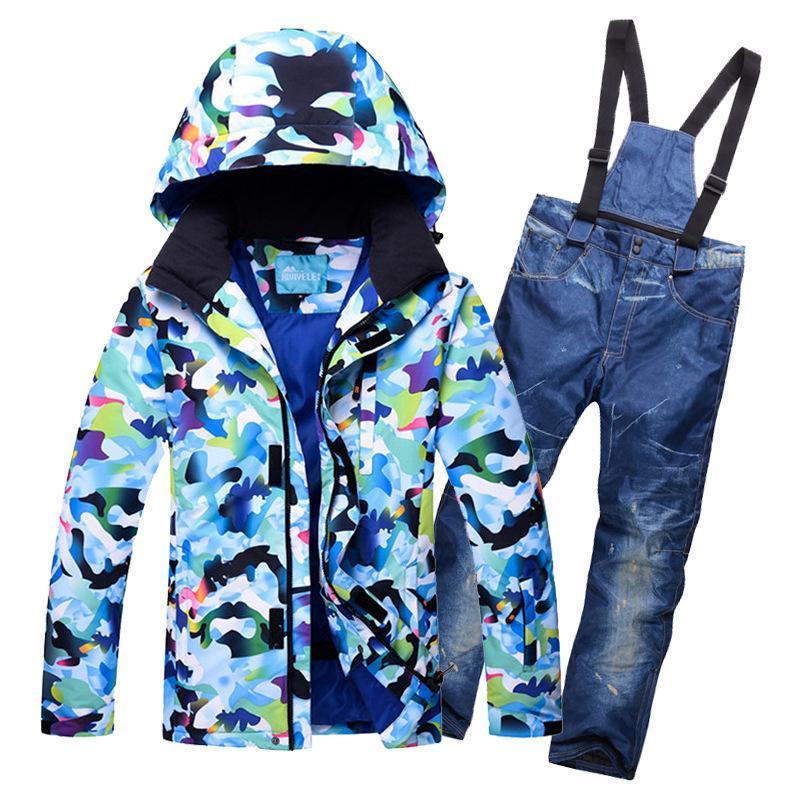 스키 정장 겨울 스키 정장 남자 눈 남성 의류 세트 야외 열 방수 방풍 스노우 보드 자켓과 바지