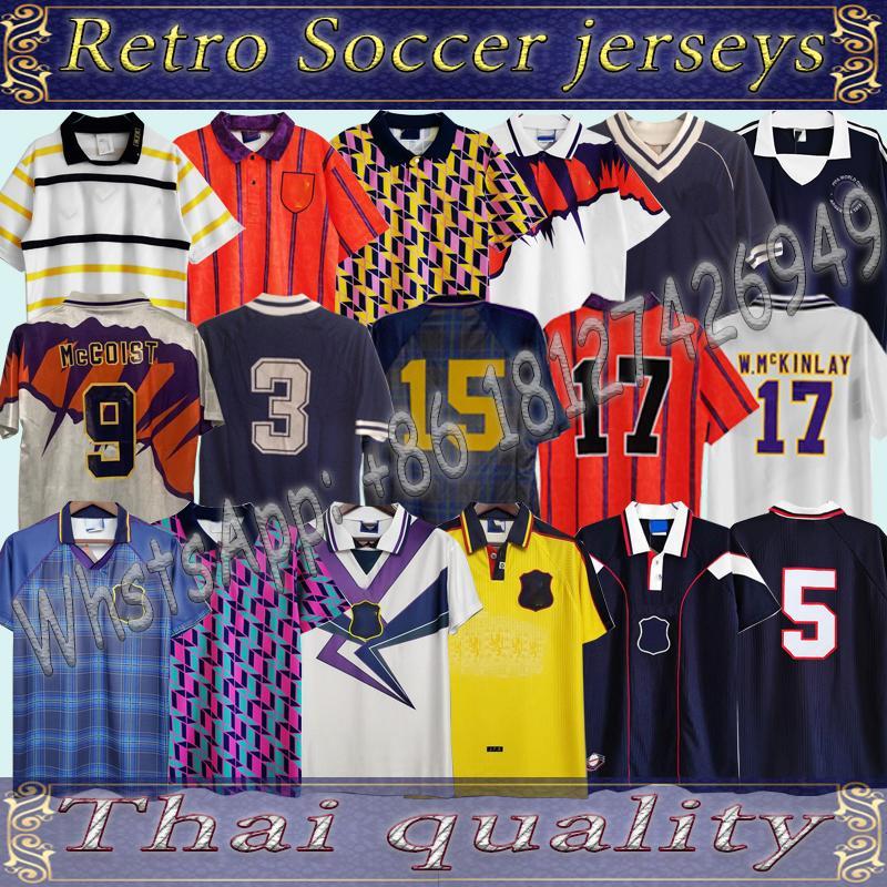 Acquista 1988 1989 1990 1991 1978 Scotland Retro Alba Home Soccer Jersey 1993 1994 International McCoist Away McAllister 1996 1998 Camicia Da Calcio ...