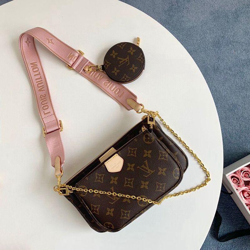 2021 França Marca Designer Sacos de Ombro Multi Pochette Accessoires Bolsas Mulheres Luxo Moda Favorito Mini 3 Pcs Set Combinação Bolsas Bolsas Crossbody Bolsa Com Caixa