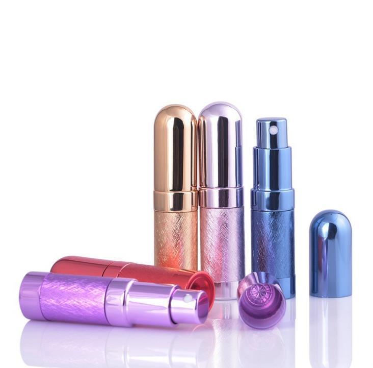 100 unids de alta calidad 6 ml botella de perfume recargable de vidrio vacío fragancia de fragancia botellas de metal perfume-atomizador SN2606