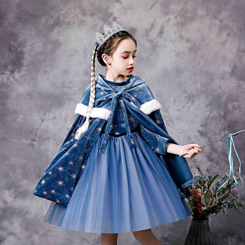 2021 NUOVO ABBIGLIAMENTO BAMBINI ABBIGLIAMENTO PRINCESSIONE GONNA GIUND Snow Snow Girl Wonder Aisha Dress Autunno e inverno stile straniero