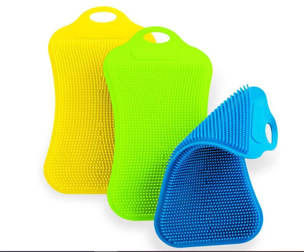 Cozinha comida alimentação de silicone lavagem pratos de boa qualidade escova ferramentas para limpeza Scrub acessórios fornecedor reutilizável gwe9965