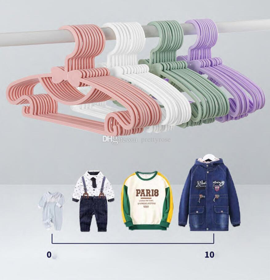 Ropa de ropa para niños Racks portátiles Pantalla de plástico Perchas a prueba de viento Abrigos para niños Perchador Ropa de bebé Organizador 6 colores