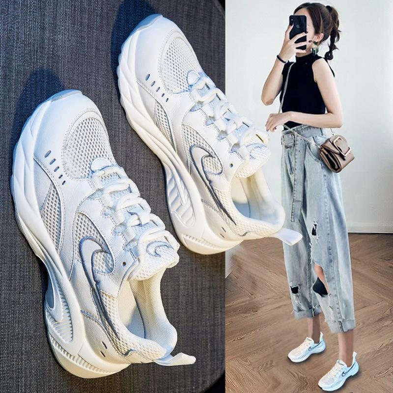 Baba Ayakkabı Bayan Ins Trendy 2021 Yaz Yeni Internet Ünlü Spor Kore Tarzı Çok Yönlü Nefes Platformu Rahat Bayan Ayakkabı