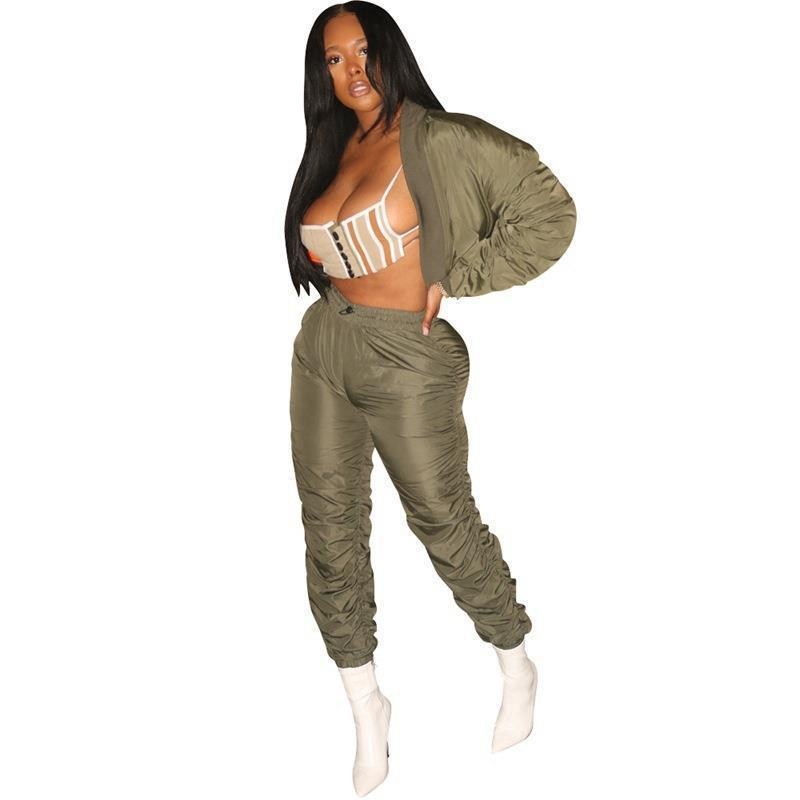 Winter Sweat Suits Matching Women Tracksuits Sets Pant Set Ankle Length Casual Two Piece Sportswear Tracksuit Top Stacked Sweatpants Joggers