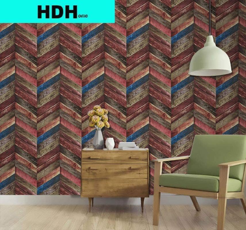 خلفيات الخشب قطاع قشر وعصا عصا خلفية ذاتية لاصقة حلية القابلة للإزالة الجدار تغطي الديكور