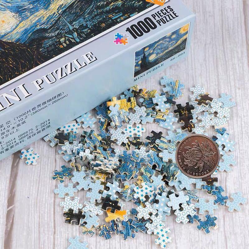 Puzzles brain game Multiple styles mini picture 1000 pieces wooden Assembling for adults children kids games educational Toys
