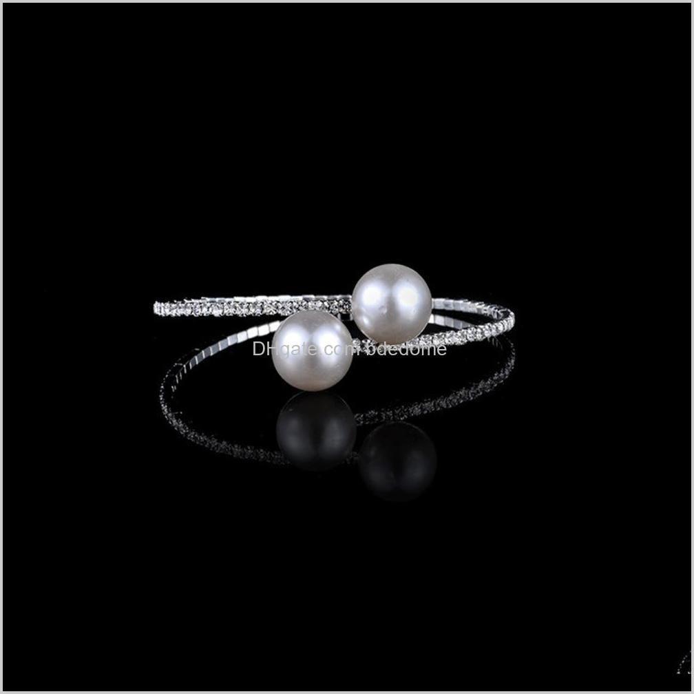 Other Bracelets Drop Delivery 2021 Korean Pearl Lady Sweet Girl Bridal Jewelry Bracelet Diamond Braceletztxm Nuare