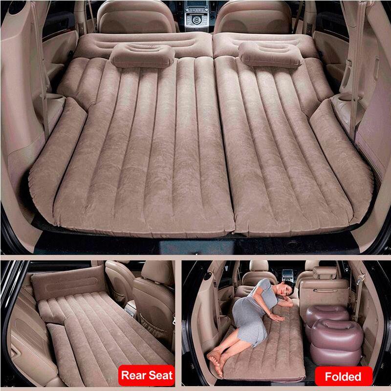 Araba Hava Şişme Yatak Evrensel SUV Oto Seyahat Uyku Yatak Pedi Arka Koltuk Gövde Kanepe Yastık Açık Kamp Mat Büyük Yastık Tesla Model 3 / Y / X 2021