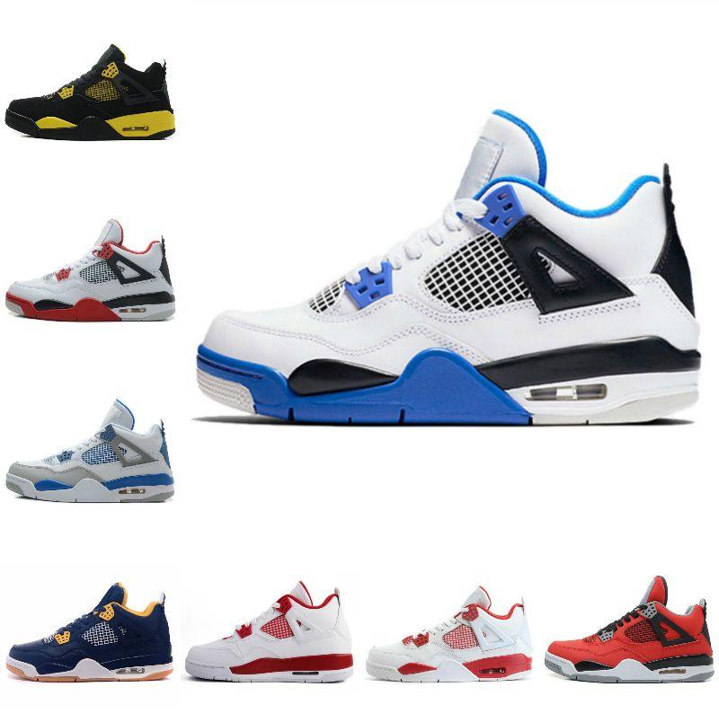 2021 Yeni Yelken 4 Erkek Basketbol Ayakkabıları 4 S Krem Derin Okyanus Neon Metalik Paketi Royalty Kaktüs Jack Beyaz Çimento 4 S Saf Para Eğitmenleri Spor Sneakers