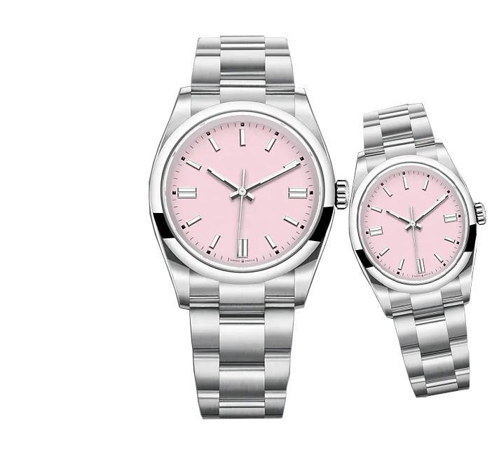 36mm 40mm İzle Sayfası Lüks 8 Renk Orologio De Luxe L'UOMO Otomatik Makineler Saatler Paslanmaz Çelik Süper Saatı Erkek Kadınlar Gibi Reloj Full Steel