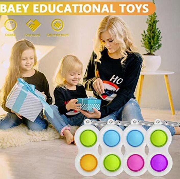 Stati Uniti Stock Baby Fidget Simple Dimple Sensory Keepsakes Toys Silicone Flipping Board Brain Teaser Regali Giocattolo educativo per bambini Confezione per feste