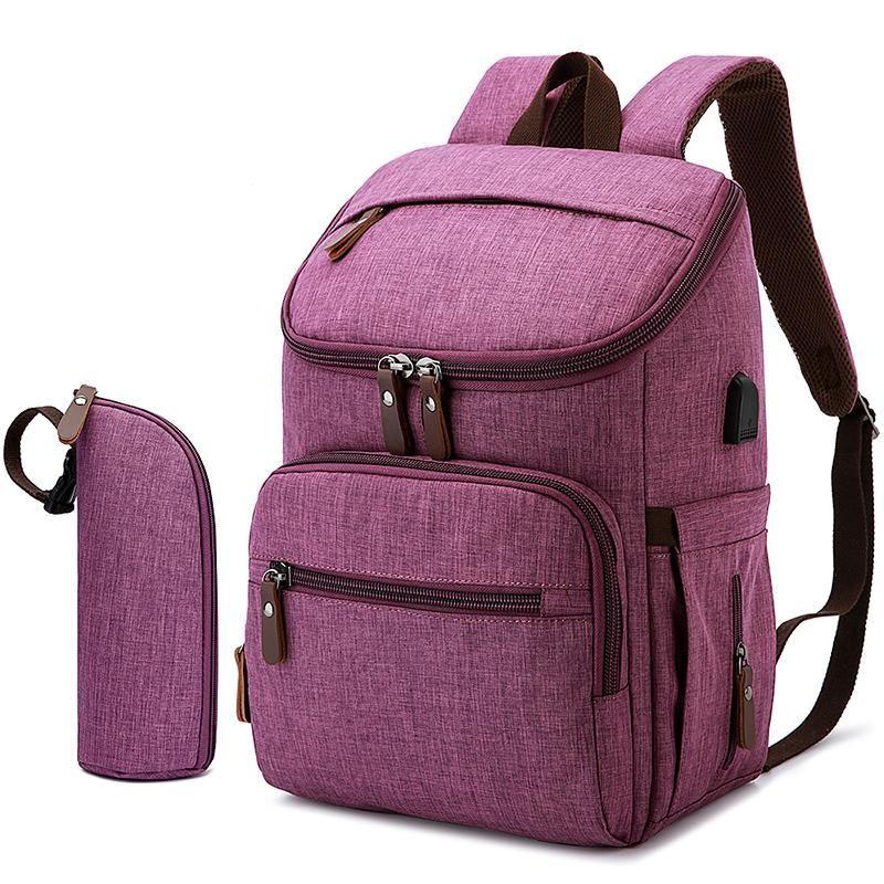 Bolsas de pañales Bolsa de moda Tela impermeable Mochila de poliéster Viajes de gran capacidad para mamá Nappy Baby Care Maternidad Mamá