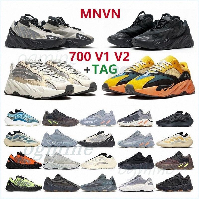 + 그린 태그 Kanye Shoes V1 V2 Eremiel Vanta Kany 700 Sun 정적 남성 Womens West Mnvn Mens 스포츠 디자이너 신발 육상 운동화 36-47 # Yeezys #