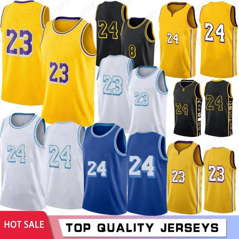 NCAA lebron 23 6 James Basketball Jerseys Los Mens Angeles Bryant 남자 아이 Anthony 3 Davis Kyle 0 Kuzma 4 Caruso Green 34 8 32 Stock S-XXL 2021 최신