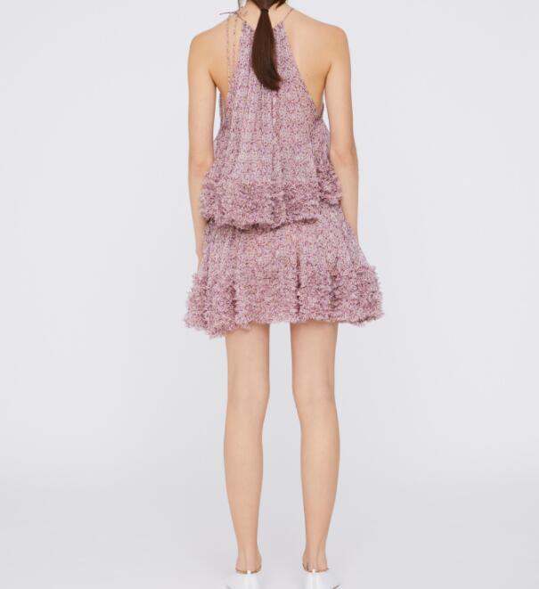 Röcke Elfstyle Floral Print Seife Rock Rüschen gefaltete Saum Seite Reißverschluss Mode Frau Kurze Mini Seide