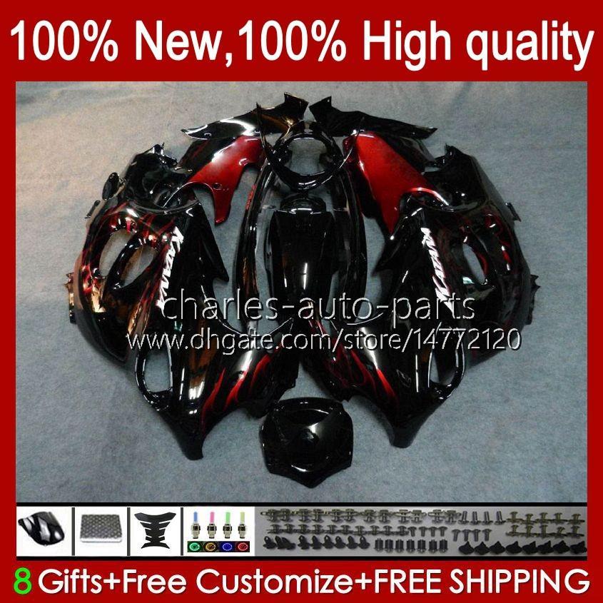 Corps de Suzuki Katana GSX600F GSXF600 GSXF750 GSXF 600 750 CC 98 99 00 01 02 29NO.12 600CC 750CC GSX750F GSXF-600 GSXF-750 1998 1999 2000 2001 Flammes rouges