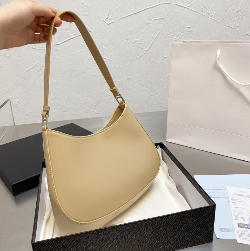 2021 Tasarımcılar Lüks Kolsuz Çanta Kadın Omuz Çantaları Çanta Yüksek Kalite Crossbody Marka Hobo Kutusu ile