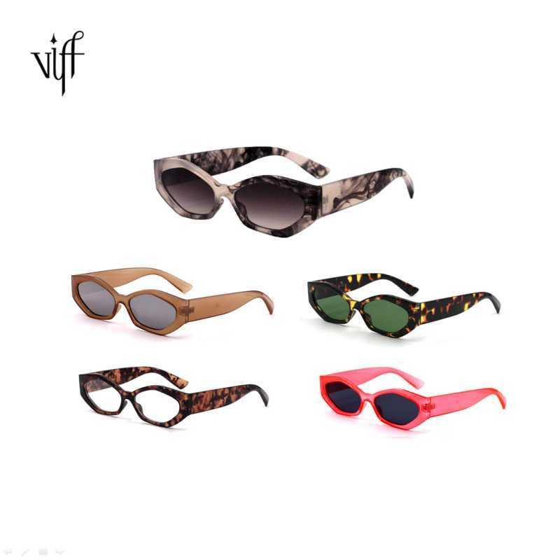 VIFF HP18265 Irregular Trendy Style Plastic Frame Custom Vintage Retro Rectangle Sunglass 2021