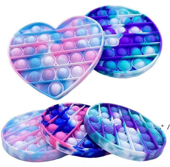Push Bubble Sensory Pop es zappeln Spielzeugkasten Partei Favorie Squishy Fight Stress Reliever Spielzeug Erwachsenen Kind Funny Anti Popit Reliver FWB5875