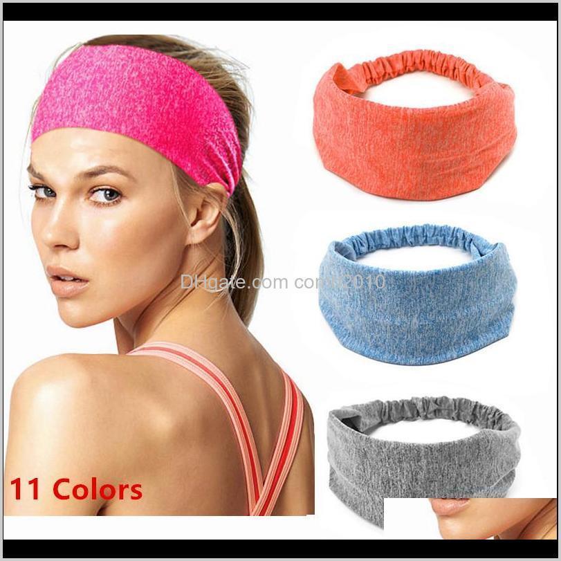 Sweatband per uomo Donna Elastic Sport Hairbands Head Band Yoga Fabands Headwear Headwrap Sport Accessori per capelli Accessori Safety Band 50pcs I HKQ7F