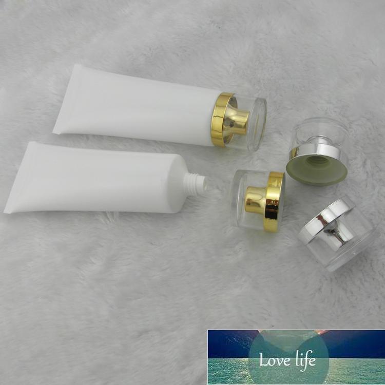100 ml 50 adet Beyaz Tüp Akrilik Vida Kap Hortumlar Krem Losyon Şişe Plastik PE / Kozmetik Ambalaj Boş