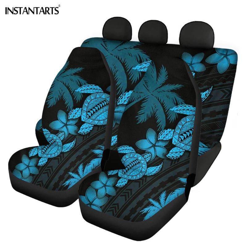 Autositzabdeckungen Instantarts 5 stücke Hohe Qualität für die meisten Autos Hawaii Polynesianer Sea Tortoise Printing Front / Back Kissen
