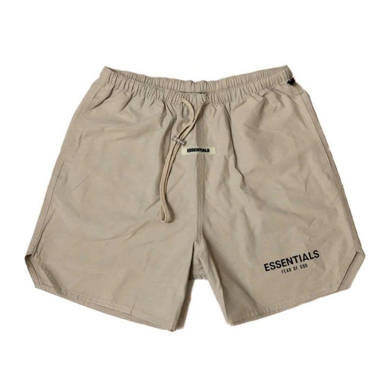 Sis Essentials Rahat Erkekler Sportif 3 M Yansıtıcı Şort Mektup Baskı Vintage Streetwear Spor Hip Hop Erkek Kısa Pantolon Pantolon 210322