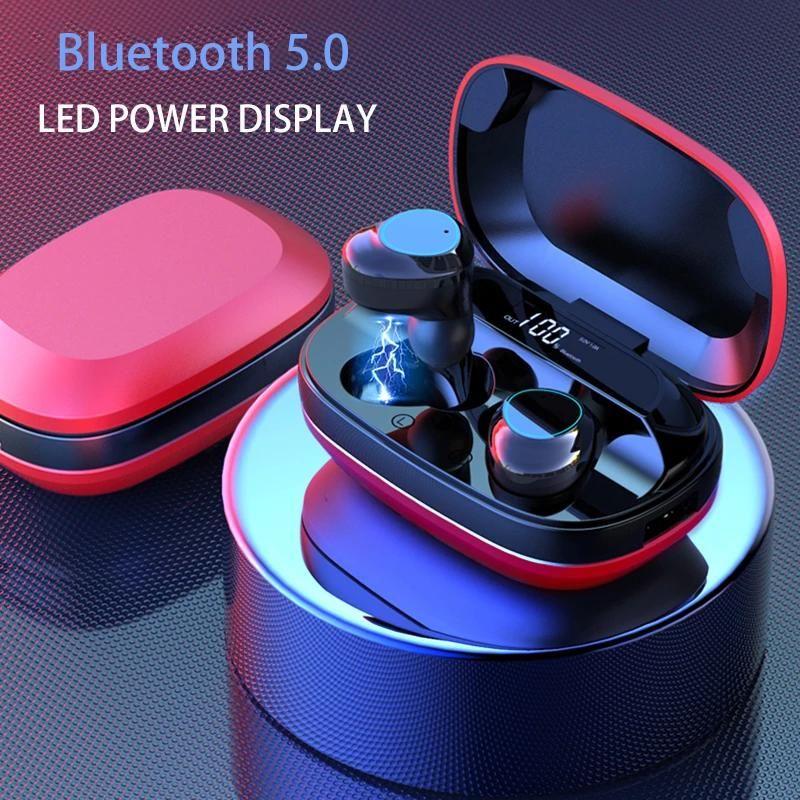 TWS Bluetooth наушники 5.0 сенсорное управление наушниками STEREO SHOUMENTING HALKSELS со светодиодной зарядной коробкой