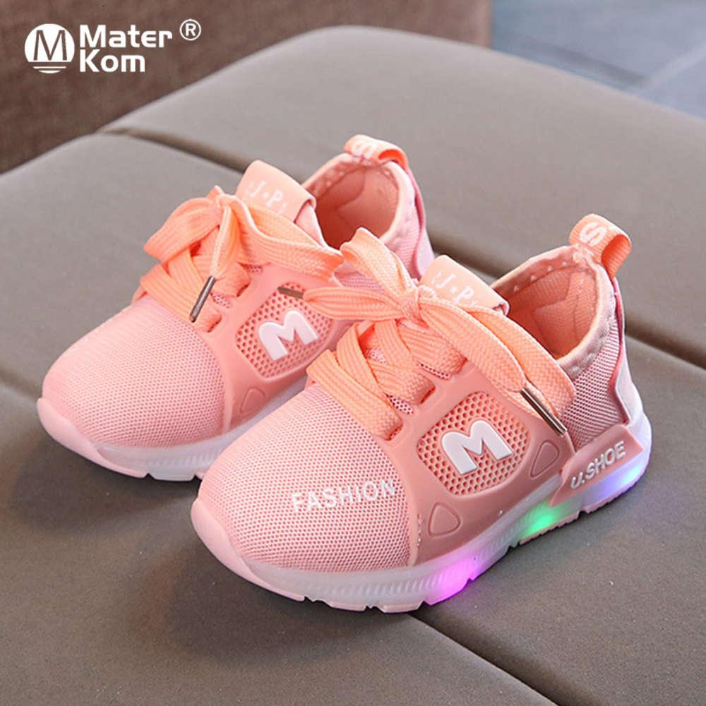 Size 21-30 Baby Flashing Lights Sneakers Toddler Little Kid LED Sneakers Children Luminous Shoes Boys Girls Sport Running Shoes 1007