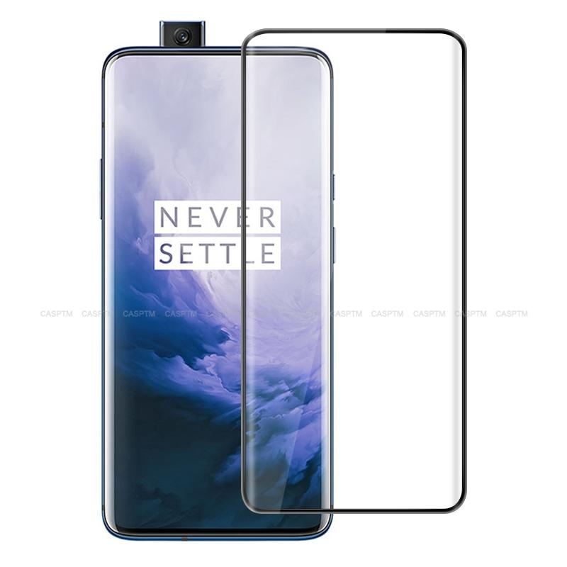 3D Tempered Glass For Oneplus 7 Pro Screen Protectors Full Cover Perfect Fit Curved Edge Film