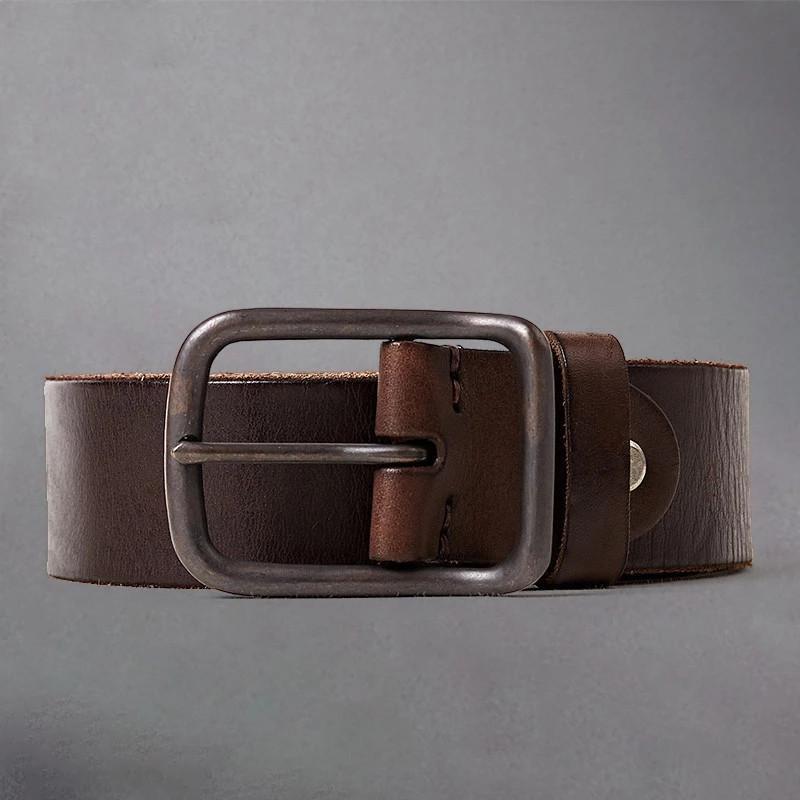 CARTELO NUEVO Cinturón de Cinturón de Cinturón de Cinturón de Cinturón Primera Capa Cinturón de Cuero Hombre Pin Casual Pin Hebilla Cinturón All-Match Jeans